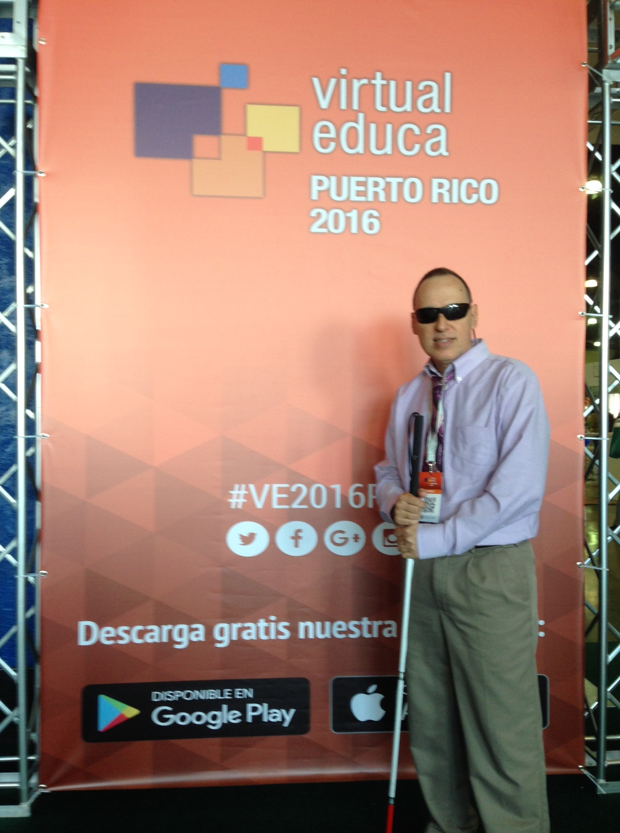 Foto de José Manolo Alvarez, en el evento internacional Virtual Educa 2016.